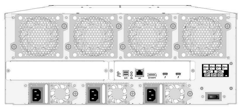ARC-8050T3-24R背面