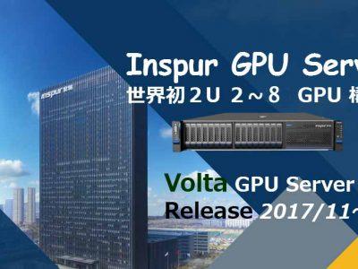 世界初2U 2~8GPU inspur server NF5288M5