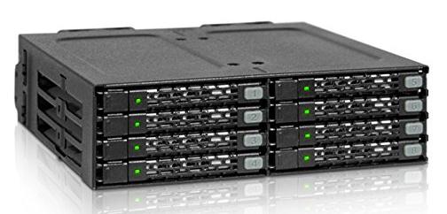ICYDOCK  MB998SP-B 2.5インチHDD8台 5インチドライブベイ用