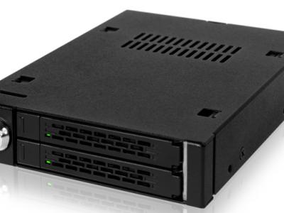ToughArmor MB992SK-B 2x 2.5インチ SAS/SATA 3 HDD/SSD 搭載用モバイルラック