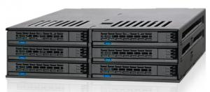 """ExpressCage MB326SP-B 2.5"""" SATA HDD & SSD x 6台搭載用モジュールケース  ホットスワップ対応 5.25""""ベイサイズ"""