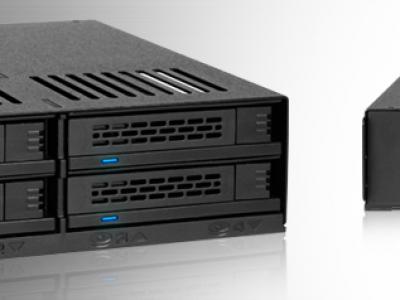 ExpressCage MB324SP-B 2.5″ SAS/SATA HDD&SSDx4台搭載可能モジュールラック ホットスワップ対応 5.25″ベイサイズ