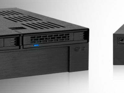 "ExpressCage MB322SP-B MB322SP-B 2.5"" SATA/SAS HDD&SSDx2 + 3.5""ベイx1対応モジュールラック 5.25""ベイサイズ"