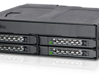 ICYDOCK MB604SPO-B ToughArmor 5.25″ベイ 複数デバイス搭載 4 x 2.5″ SAS/SATA SSD or HDD + Slim(Ultra Slim) ODD </br>[型番]MB604SPO-B
