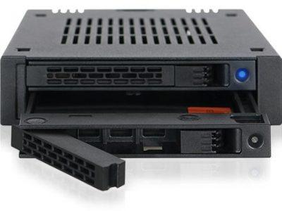 ICYDOCK MB742SP-B ExpressCage 3.5″ベイ 複数デバイス搭載 2 x 2.5″ SAS/SATA SSD or HDD モバイルラック </br>[型番]MB742SP-B